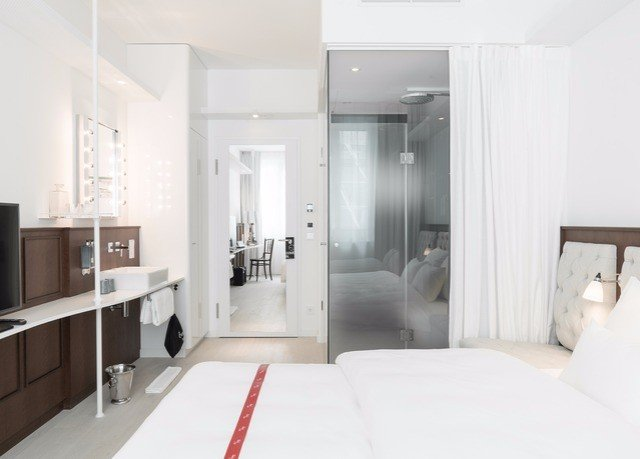 property white Suite home condominium loft cottage Bedroom living room