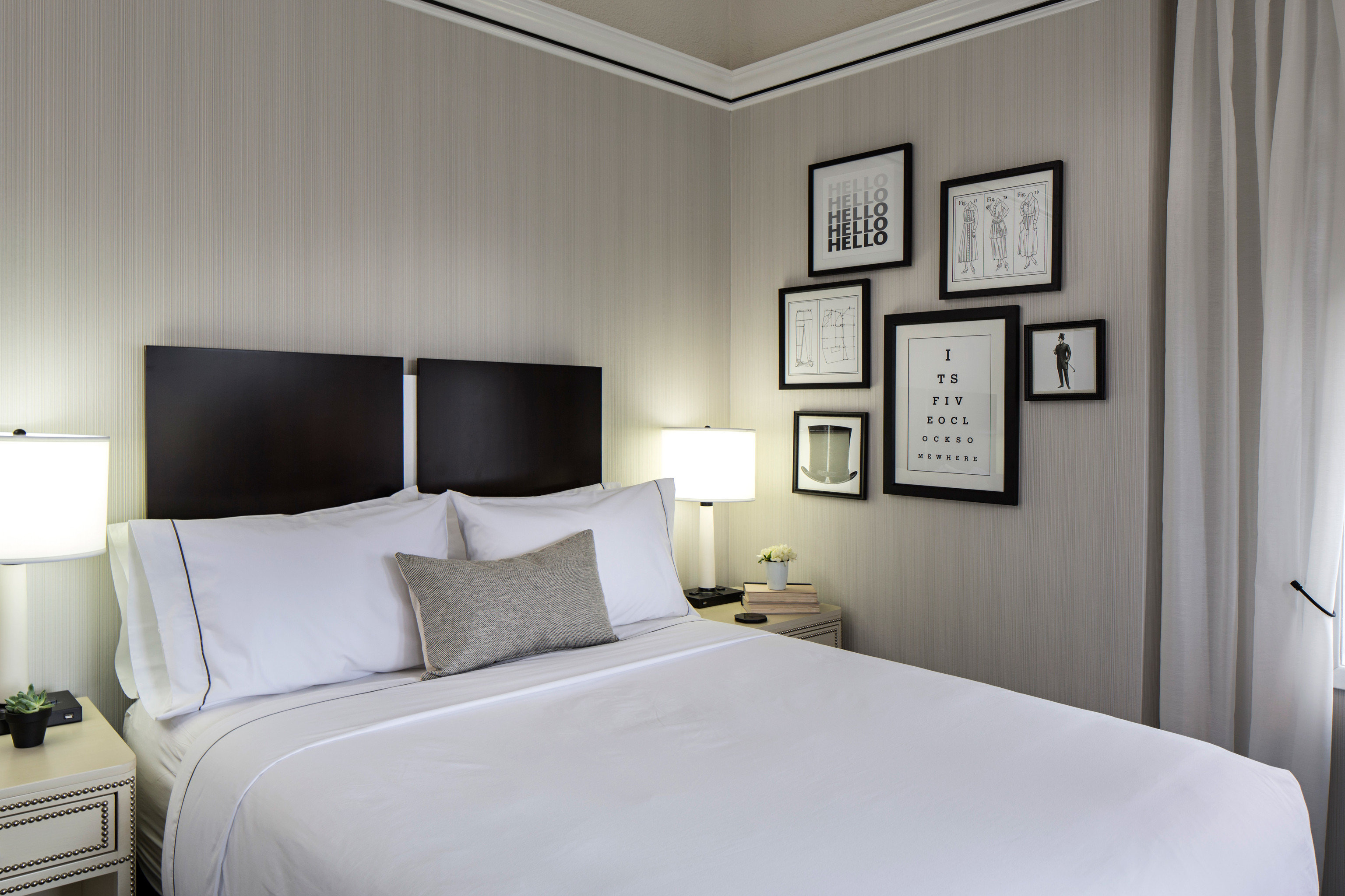 Bedroom property pillow scene white Suite home living room cottage condominium