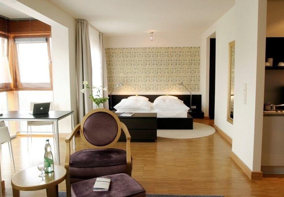 property living room Suite home hardwood condominium cottage hard Bedroom wood flooring