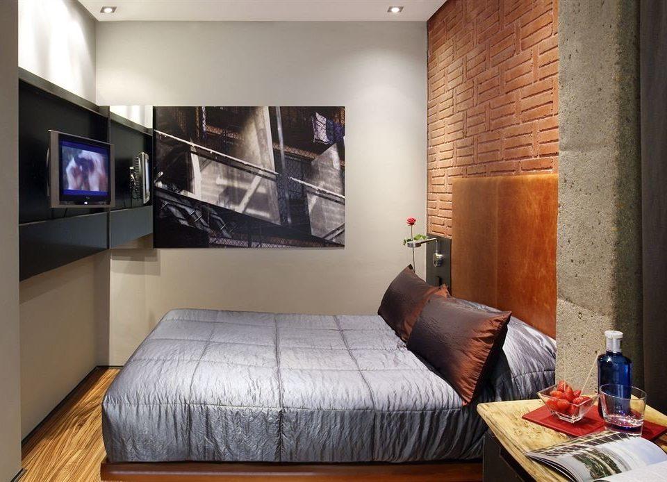 property living room Suite home condominium loft cottage Bedroom