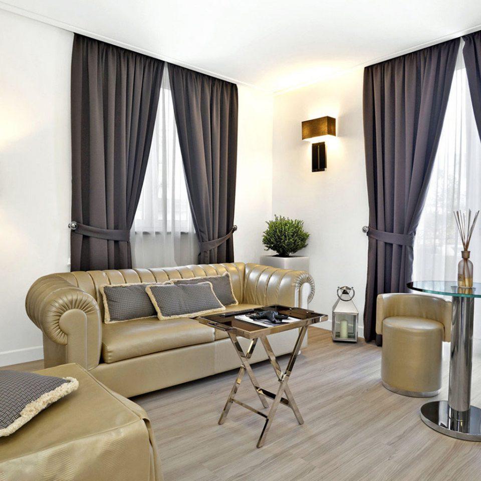 curtain property Suite living room condominium home window treatment Bedroom leather