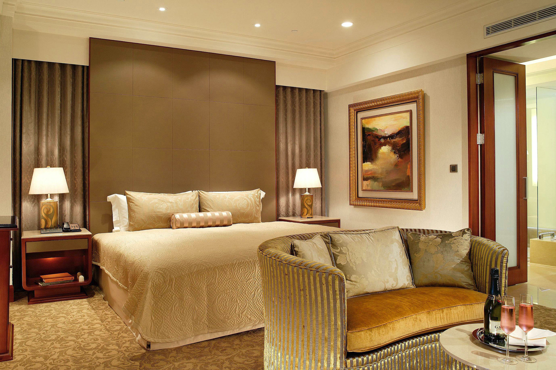 sofa living room property Suite condominium home Bedroom tan