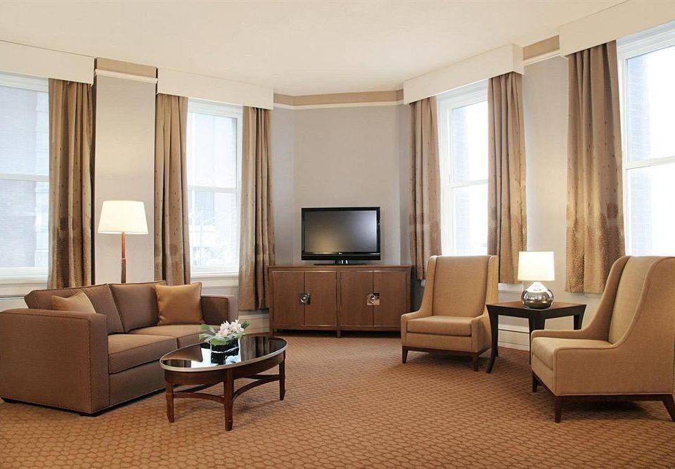 living room property condominium Suite home Bedroom tan