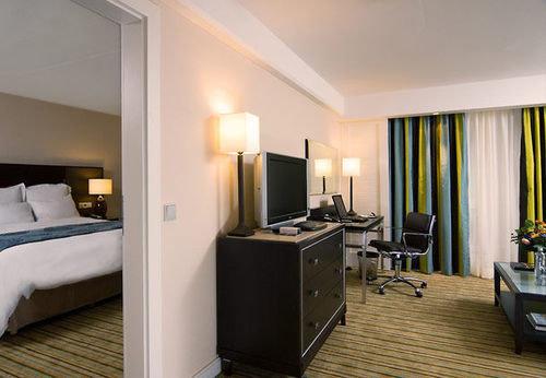 property condominium Suite living room Bedroom home