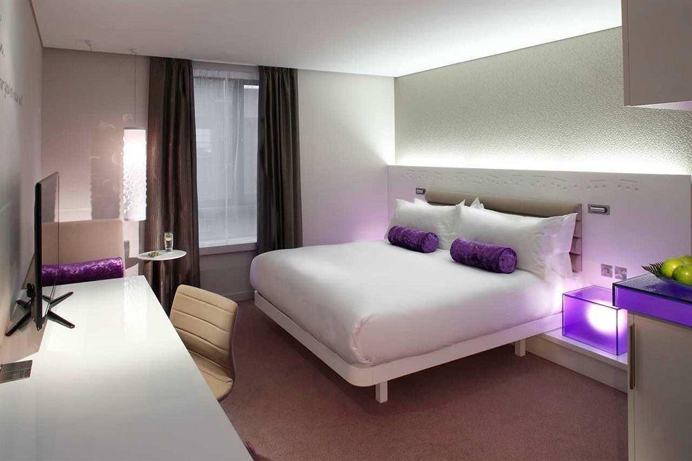 property Suite Bedroom condominium living room purple lamp