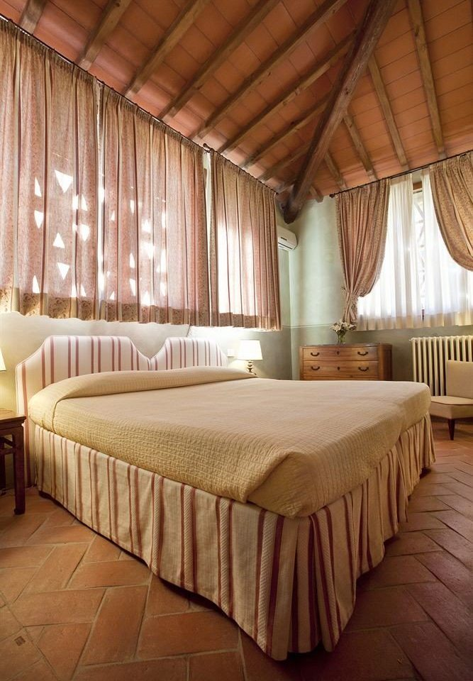 Bedroom curtain Suite double cottage tan