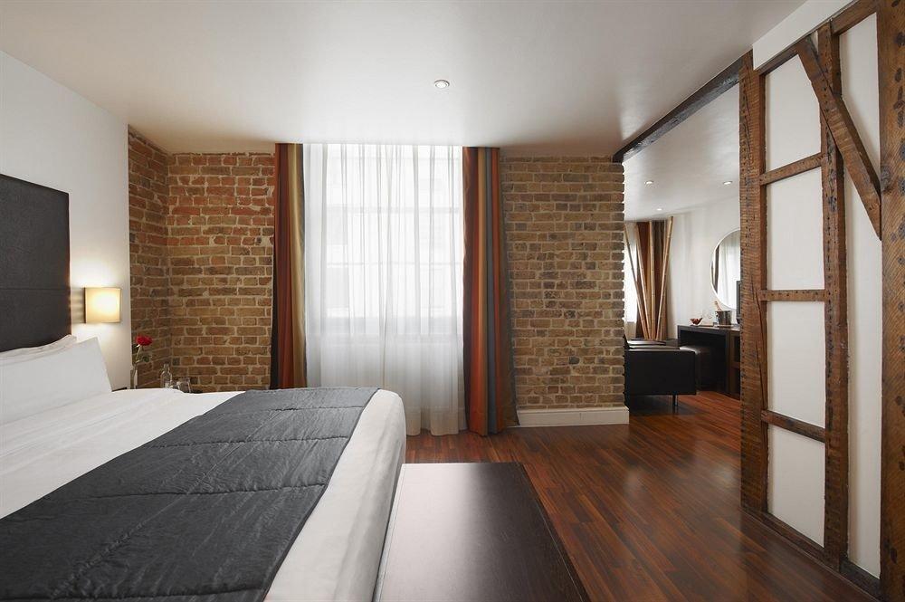 property house Bedroom hardwood home Suite loft cottage wood flooring living room
