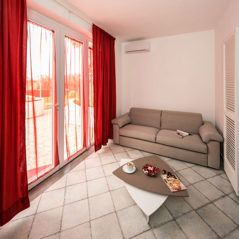 property Suite living room red cottage home Bedroom