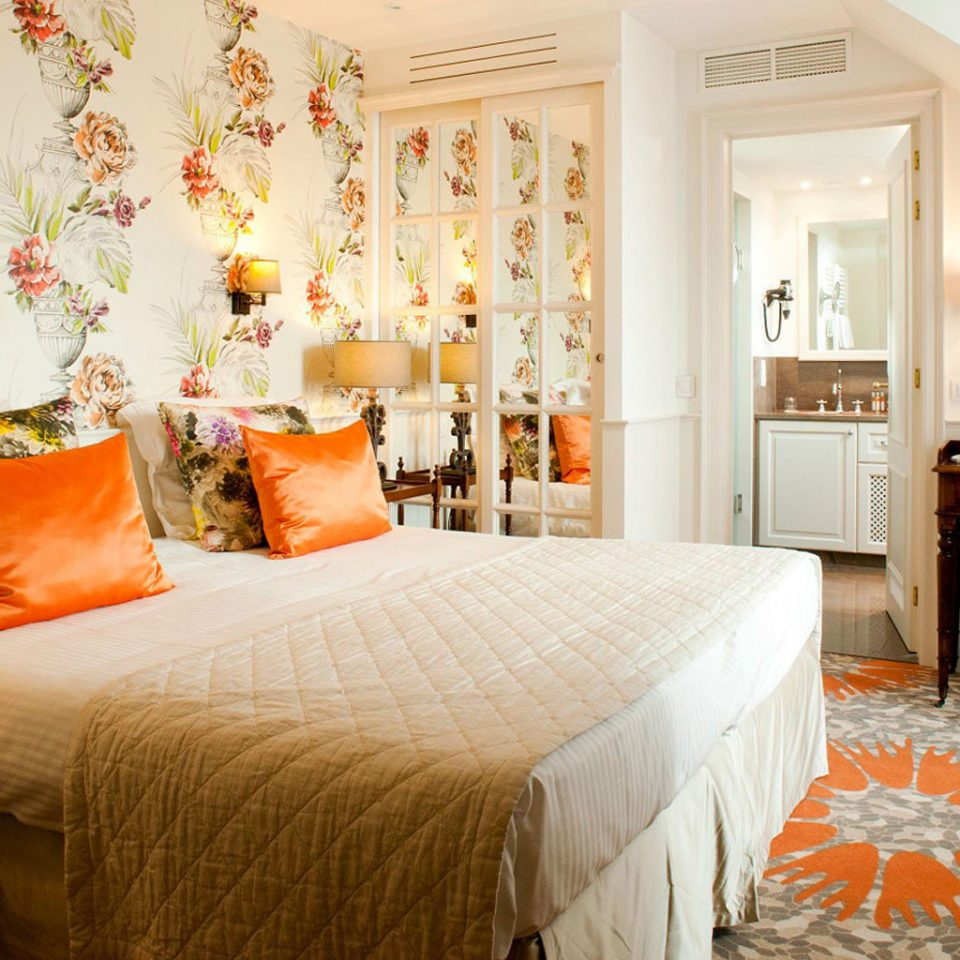 property Bedroom living room home Suite orange cottage