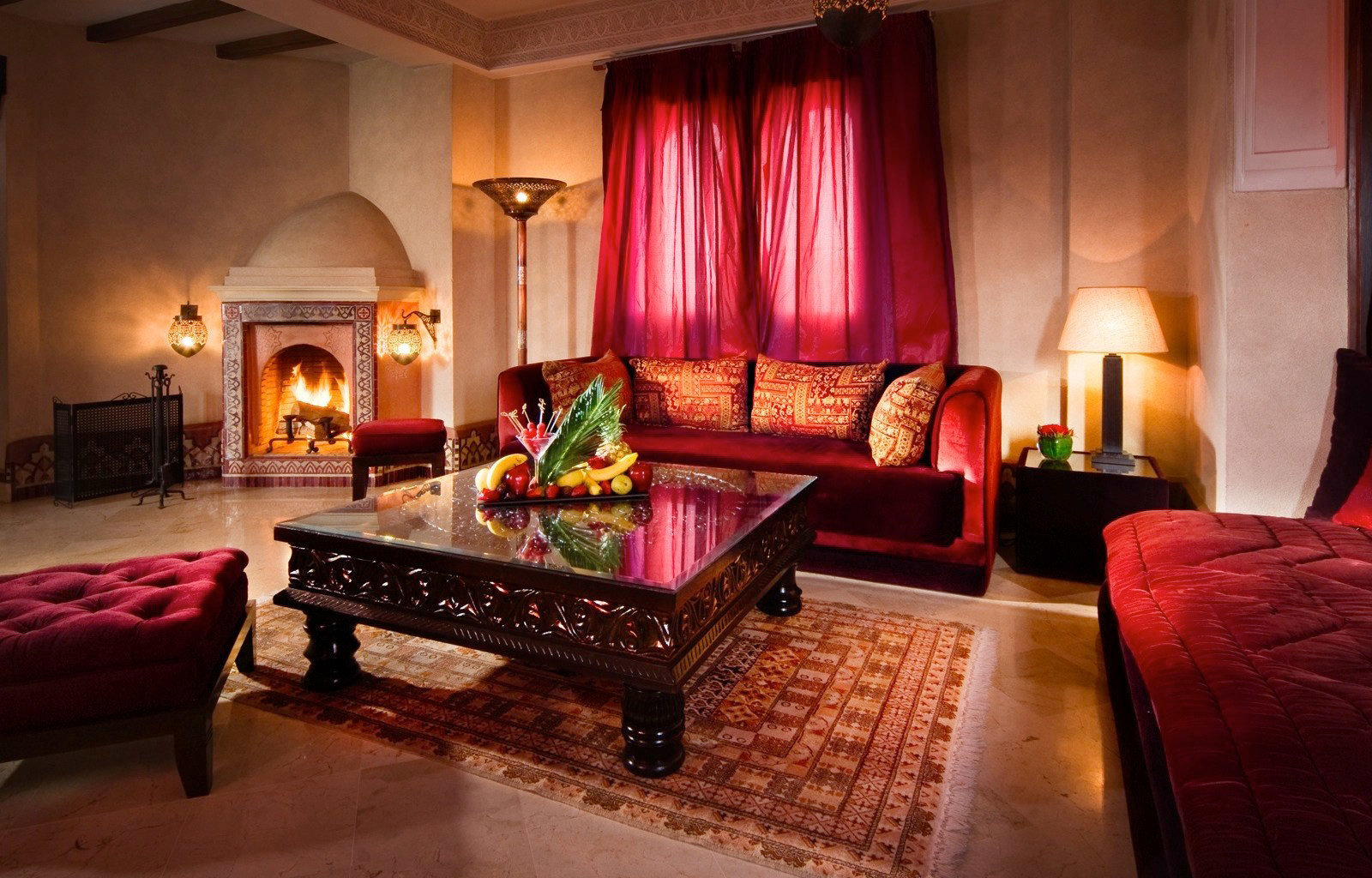 property Suite red living room home cottage Bedroom
