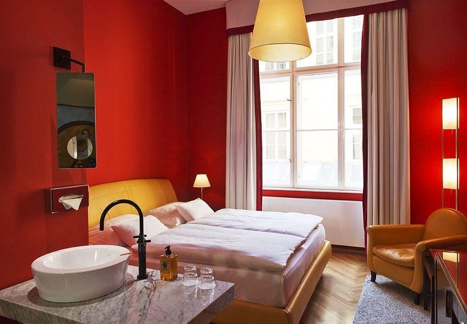property Suite red living room cottage Bedroom