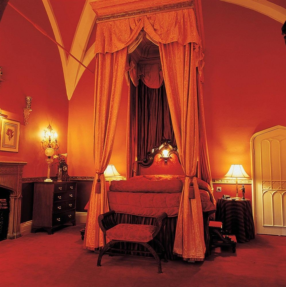 orange lighting curtain stage Bedroom function hall textile four poster window treatment theatre Suite theatrical scenery flooring decor light fixture lamp