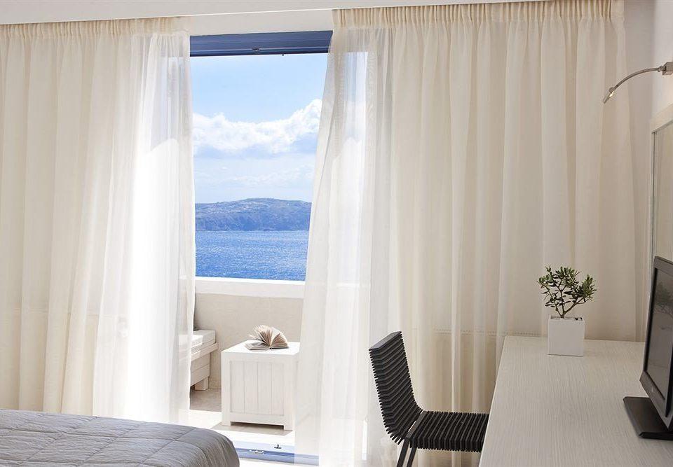 curtain white textile window treatment Suite material decor Bedroom