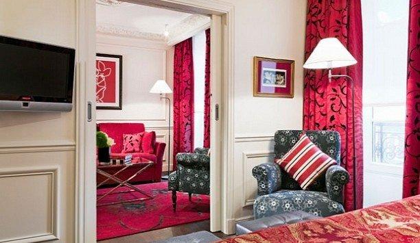 red living room home Suite door Bedroom curtain interior designer flooring flat