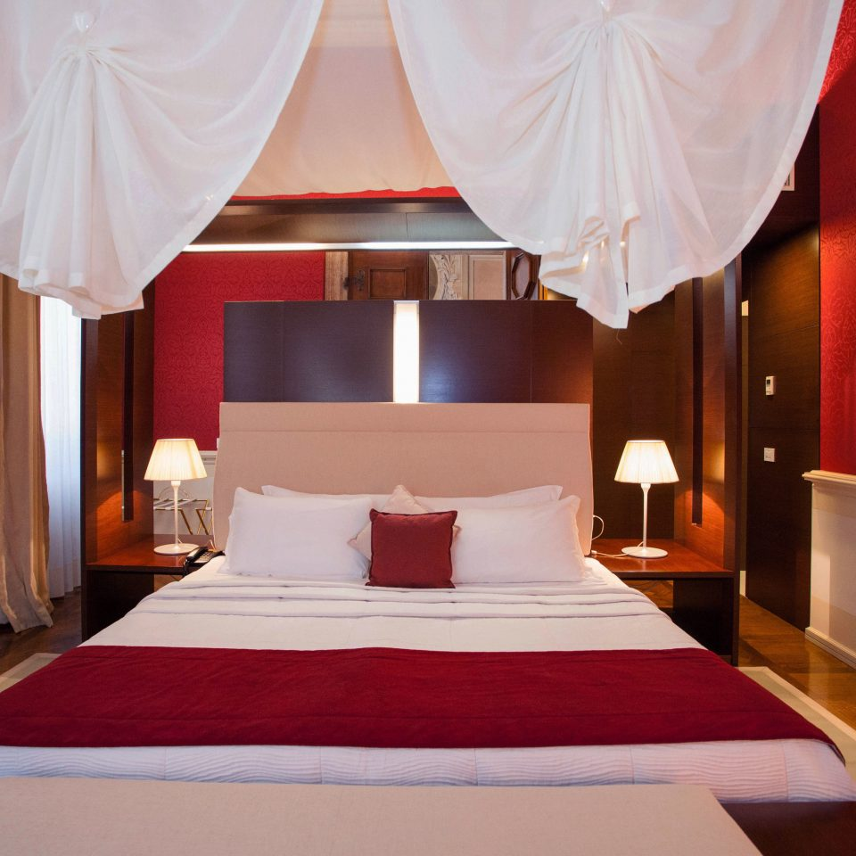 red curtain white Suite function hall Bedroom