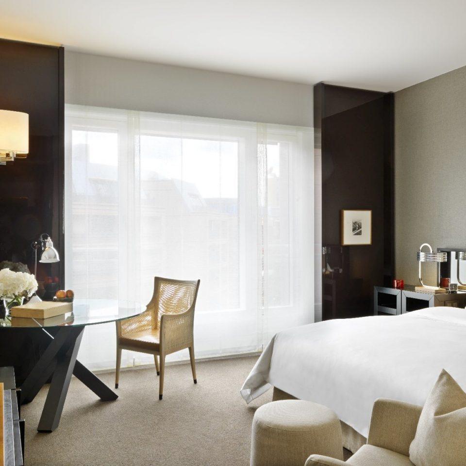 Suite living room window treatment curtain interior designer Bedroom