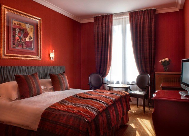 red Suite Bedroom orange flat