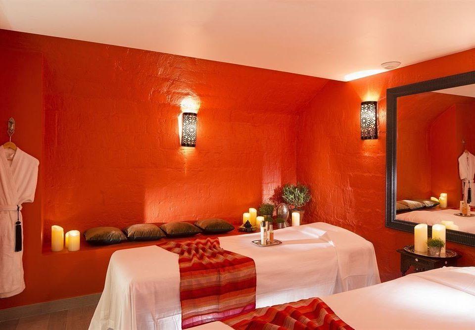 Suite red orange restaurant Bedroom flat painting
