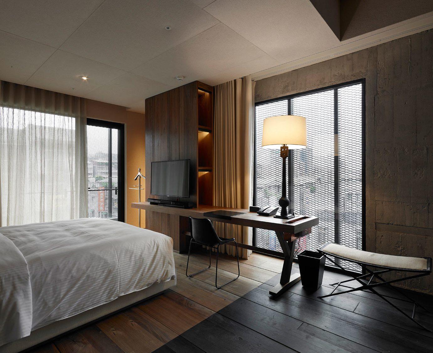 Bedroom property hardwood home Suite living room wood flooring lamp