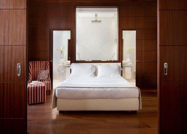 white hardwood Suite home Bedroom wood flooring