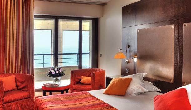 red Suite Bedroom window treatment living room interior designer orange
