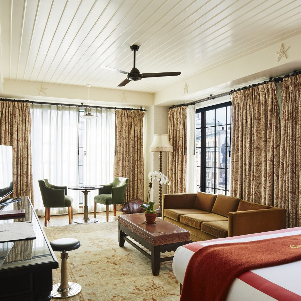 living room Suite window treatment Bedroom penthouse apartment interior designer