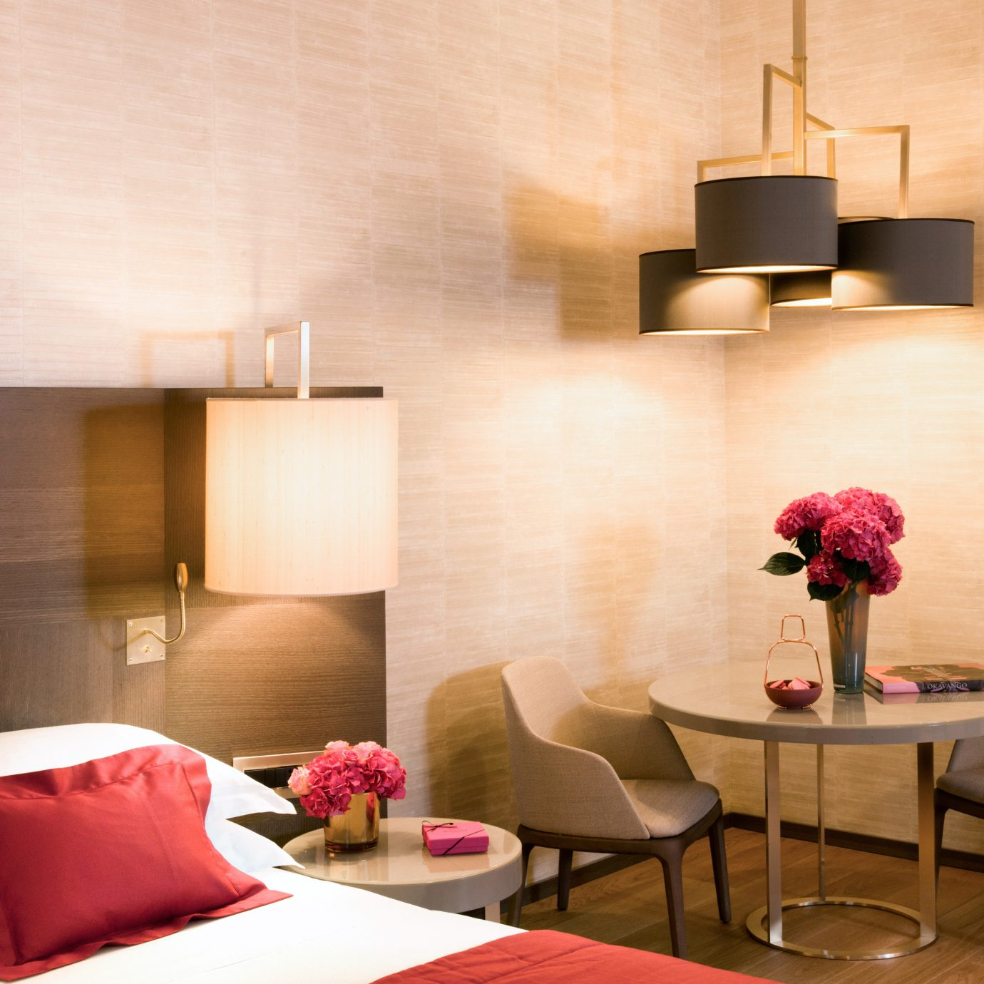 Bedroom red property Suite living room lighting lamp