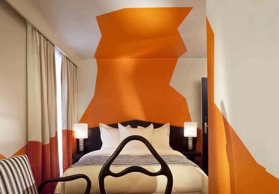 Bedroom orange lighting Suite living room