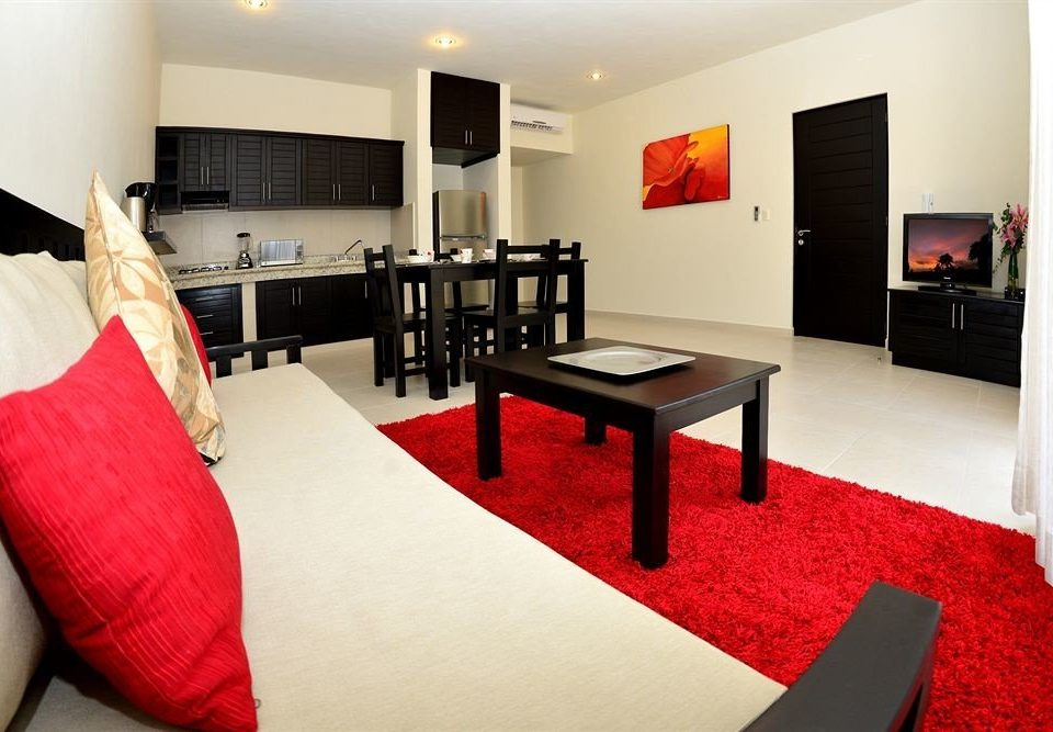 red property Suite living room Bedroom