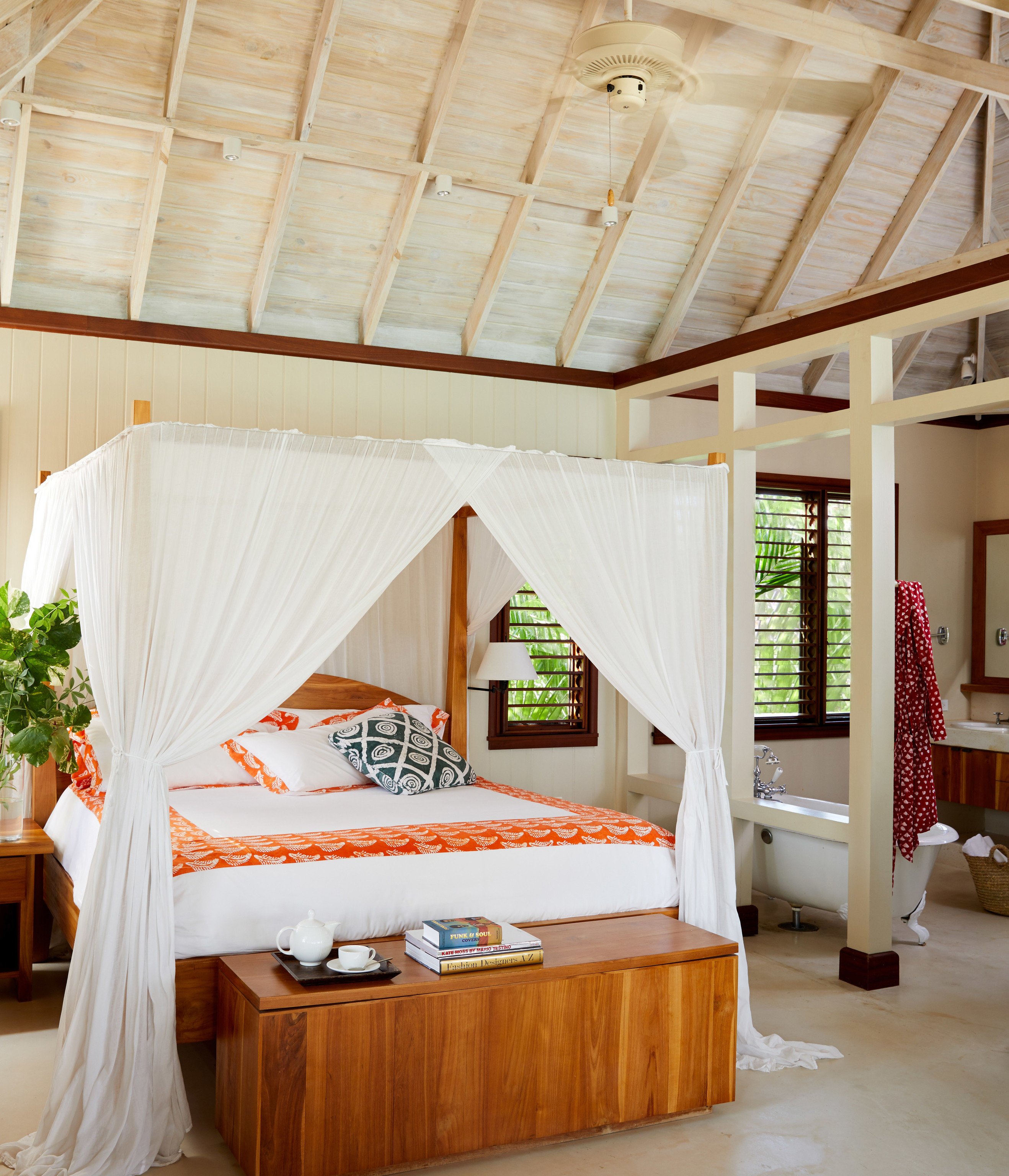 Trip Ideas Bedroom bed frame home four poster Suite living room house daylighting window treatment flooring tent interior designer