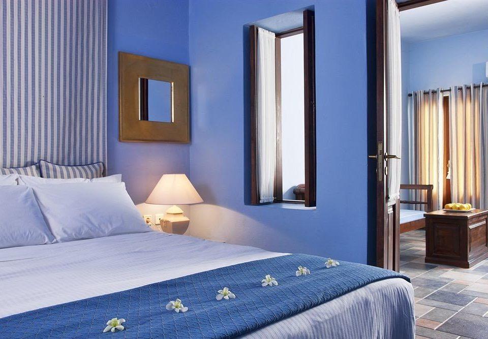 Bedroom property Suite scene curtain cottage bed sheet Villa blue