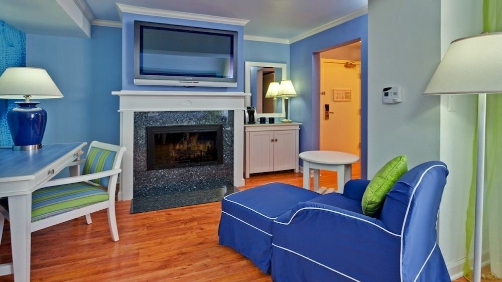 property chair home Bedroom cottage living room Suite blue Villa leather