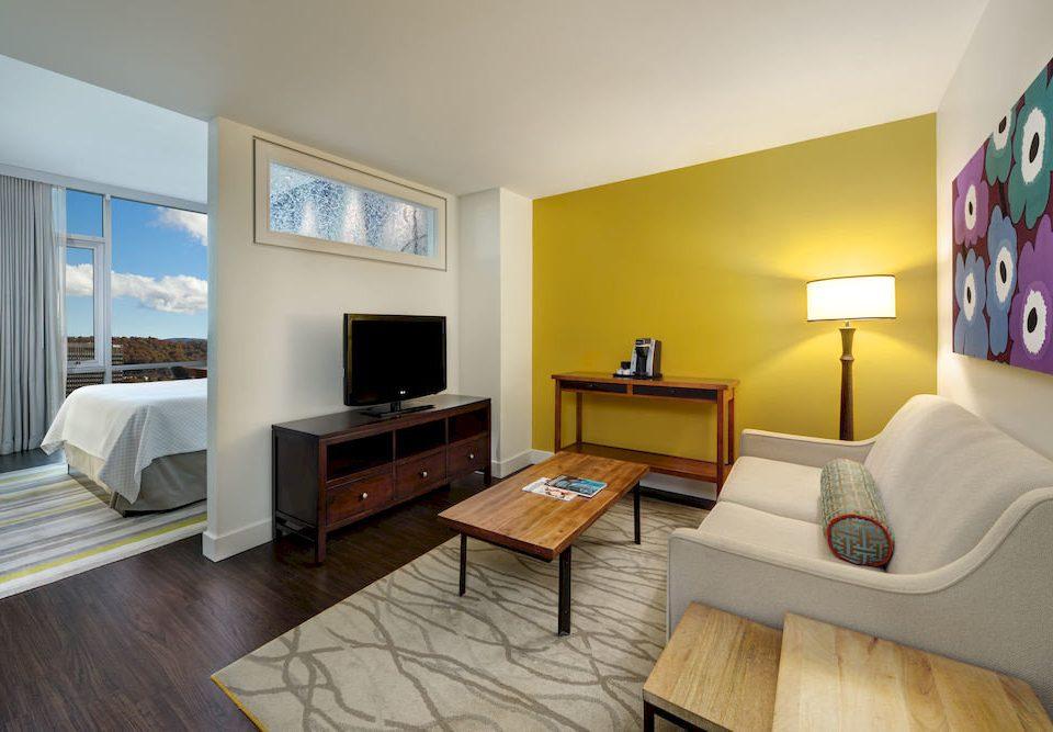 sofa property Bedroom Suite living room home cottage hardwood condominium Villa flat