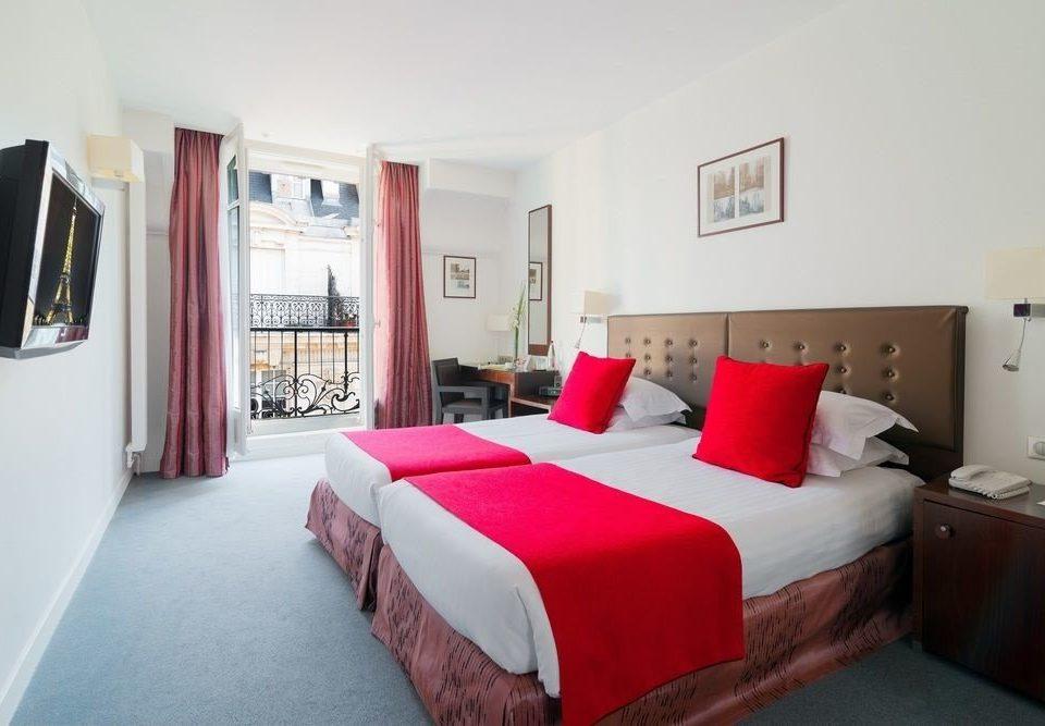 sofa red property Bedroom scene cottage Suite Villa