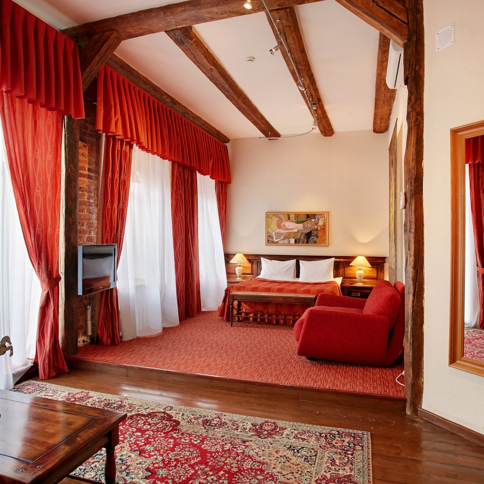 red property house Suite Bedroom cottage living room home Villa