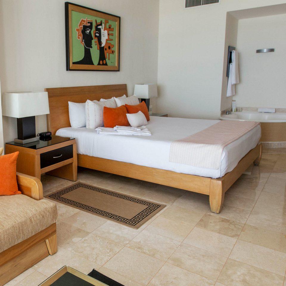 property Suite living room Villa cottage home orange Bedroom