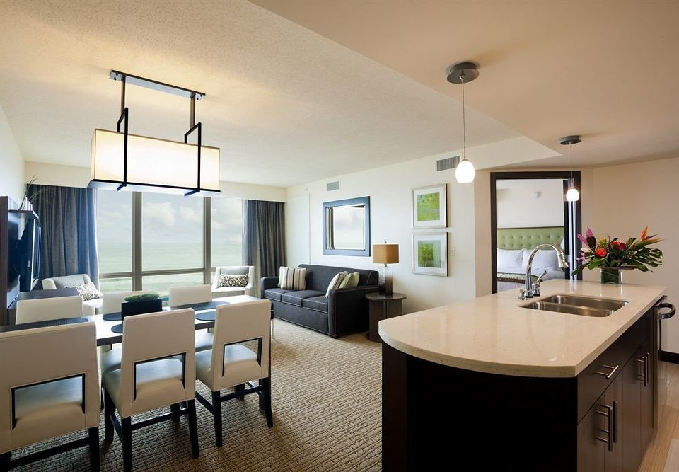 Suite Waterfront property condominium living room home Bedroom