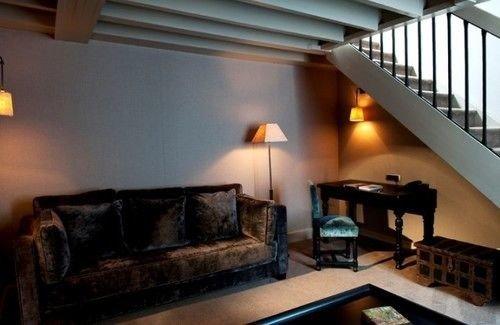 sofa property building living room cottage Villa home loft Bedroom leather
