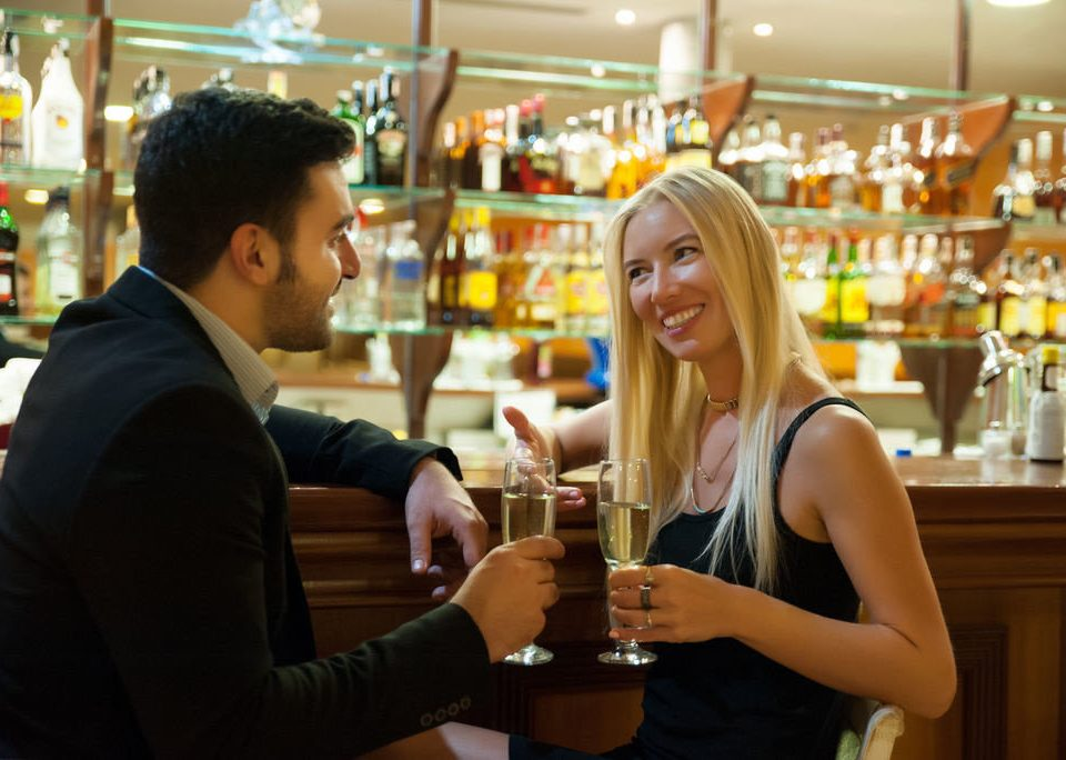 woman sense beer restaurant