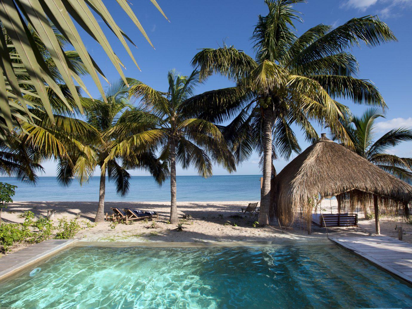 Trip Ideas outdoor tree sky palm water Resort Beach Pool vacation swimming pool caribbean Ocean Sea tropics palm family arecales estate Coast Lagoon plant bay lined swimming