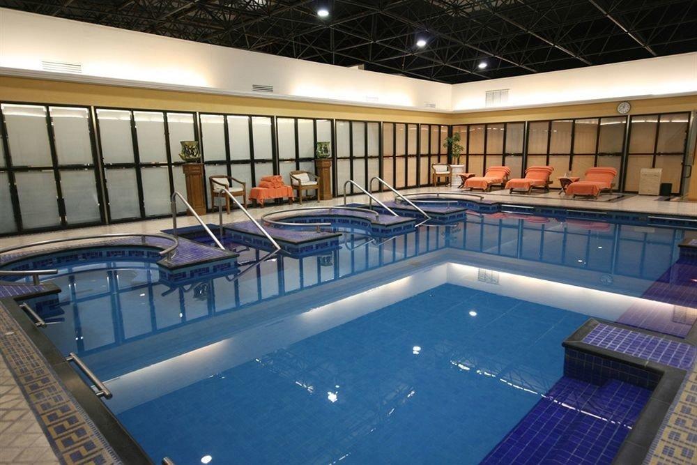 swimming pool billiard room leisure centre yacht recreation room vehicle blue