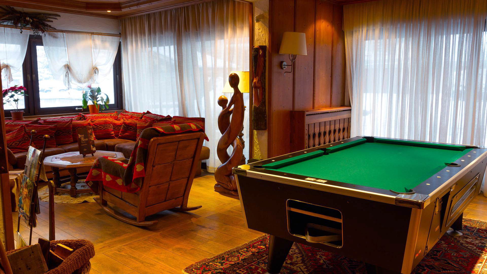 pool table poolroom recreation room billiard room building scene