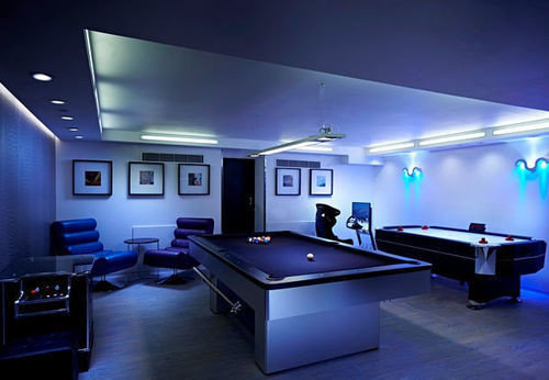 recreation room billiard room lighting living room