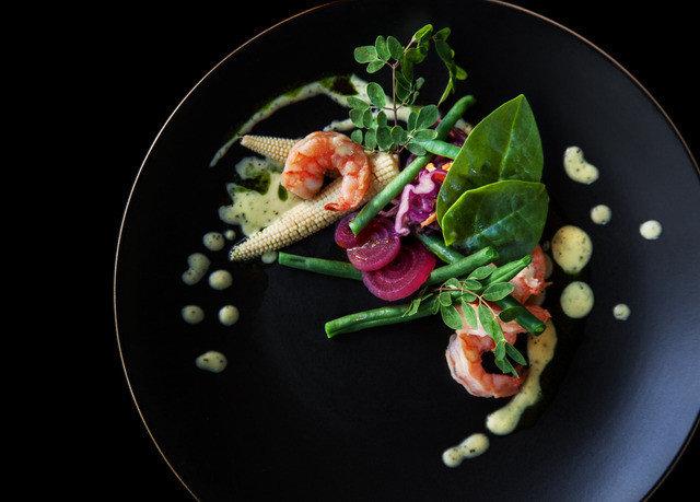 plate vegetable black food garnish vegetarian food leaf vegetable salad recipe