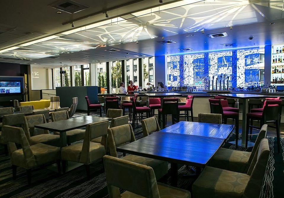 building restaurant convention center blue