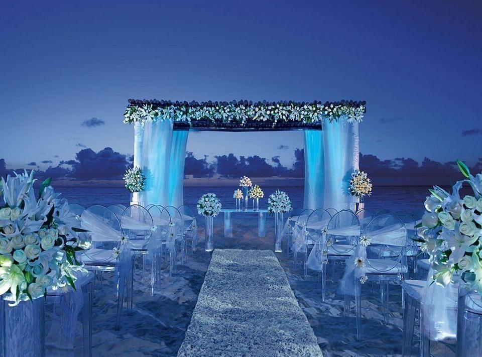 blue ceremony screenshot flower set