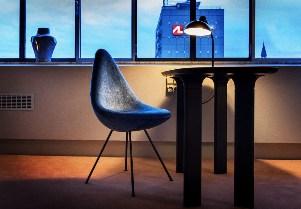 color blue light lighting shape chair