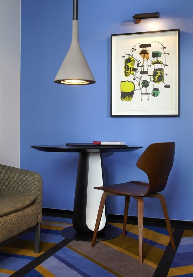 blue lighting chair living room light fixture lamp