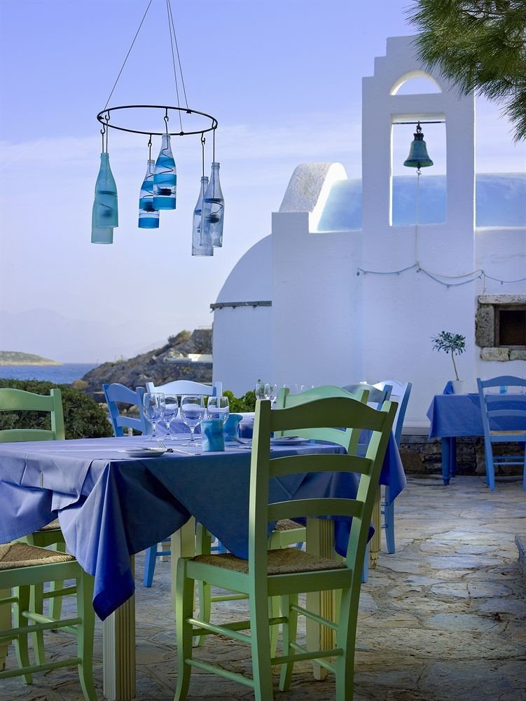 chair blue tower set