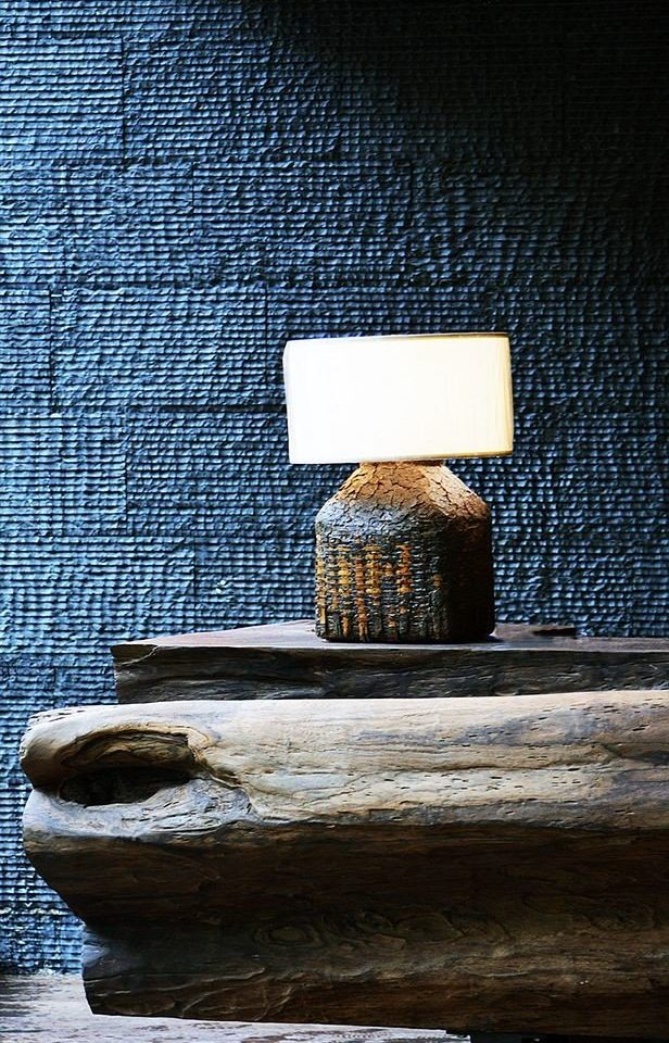 color blue light stone lighting wooden shape concrete